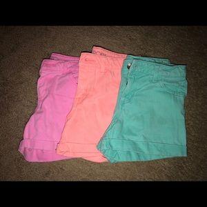 Set of 3 girls denim jean shorts